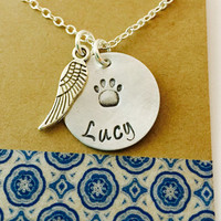 Rememberance Pet Necklace / Pet Memorial Necklace / Pet Remembrance Gift / Pet Loss / In Memory of Gift