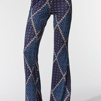 Kendall & Kylie Printed Flare Pants - Womens Pants - Purple