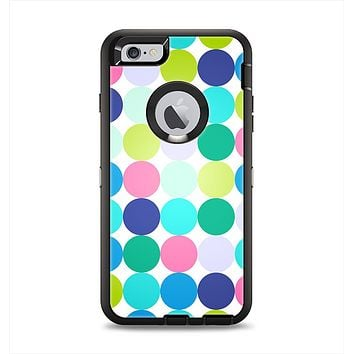 The Vibrant Colored Polka Dot V2 Apple iPhone 6 Plus Otterbox Defender Case Skin Set