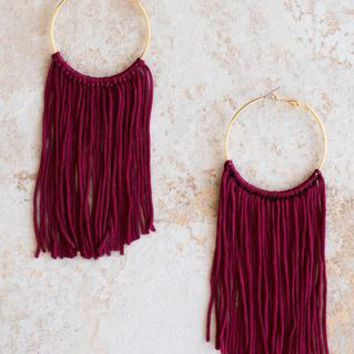 FC Fringe Earrings - Garnet