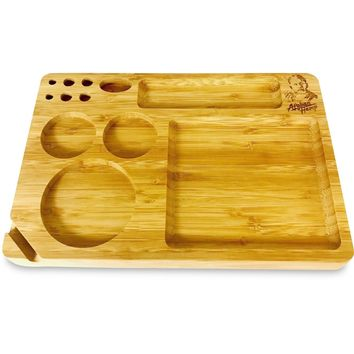 Afghan Hemp Bamboo Rolling Tray (Small)