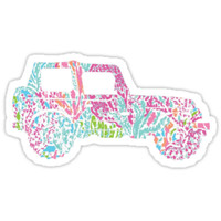 Lilly Pulitzer Inspired   Jeep #3 by lifeinlilly