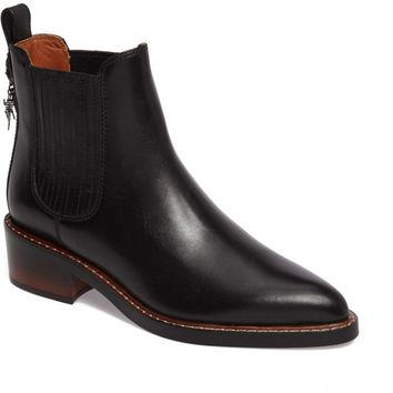 COACH Bowery Embroidered Chelsea Bootie (Women) | Nordstrom