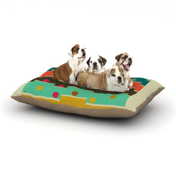 "Bri Buckley ""Modern Graphics"" Multicolor Geometry Dog Bed"