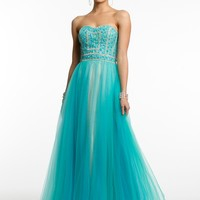 Two-Tone Beaded Bodice Ballgown from Camille La Vie and Group USA