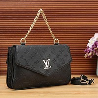 Louis Vuitton Women Fashion New Leather Chain Satchel Monogram Crossbody Shoulder Bag Handbag