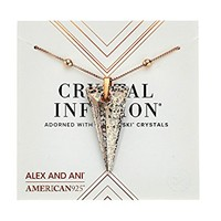 Alex and Ani Swarovski® Crystal Infusion - Rose Glow Spike Pendant Necklace