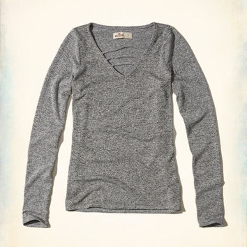 Girls Strappy Knit T-Shirt | Girls Tops | HollisterCo.com