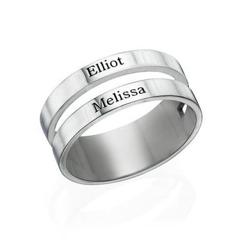 custom two name ring lover personalized engraved your name engagement ring wedding ring anniversary gift mum gift birthday