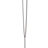 Beaded Cross Necklace Black One