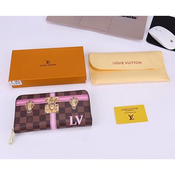 LV Louis Vuitton 2018 new limited edition classic long zipper wallet F-WMXB-PFSH #2