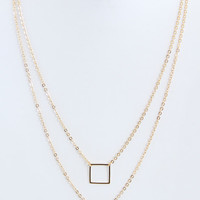 Square and Triangle Layer Necklace