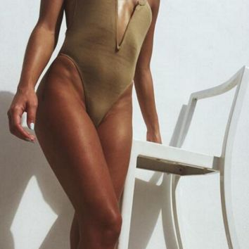 2 in 1: Bodysuit and Swimsuit X Cross Back - 4 colors