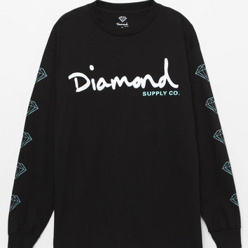 Diamond Supply Co OG Script Black Long Sleeve T-Shirt at PacSun.com