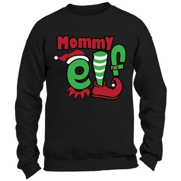 Mommy Elf Funny Christmas Sweater for Women