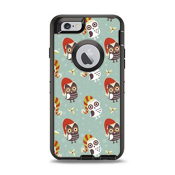 The Cartoon Snowy Colored Owls Apple iPhone 6 Otterbox Defender Case Skin Set