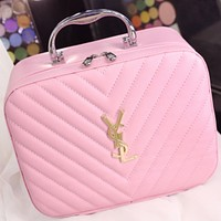 YSL Yves Saint Laurent 2018 new cosmetic bag storage bag wash bag F0717-1 Pink