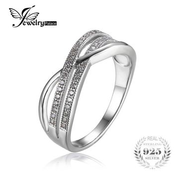 JewelryPalace Infinity Classic Anniversary Band Wedding  Ring  Fabulous Dazzling Promise Ring  Fashion 2016 Brand Fine Jewelry