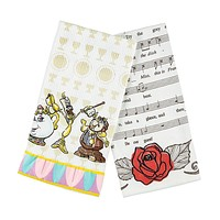 Disney Parks Beauty and the Beast Dish Kitchen Towel Set of 2 New With Tags