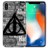 BINYEAE Harry Potter Deathly Hallows Clear Cell Phone Case Cover for Apple iPhone X 6 6s 7 8 Plus 4 4s 5 5s SE 5c