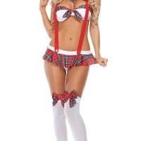 Slinky School Girl Bedroom Costume, Sexy School Girl Lingerie Costume, Sexy Schoolgirl Costume