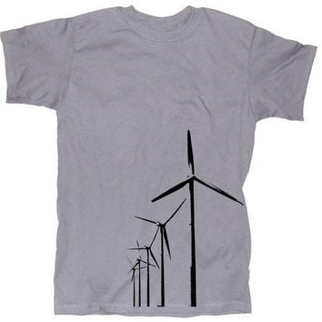 Mens WIND FARM T Shirt  s m l xl xxl  unisex wind by happyfamily