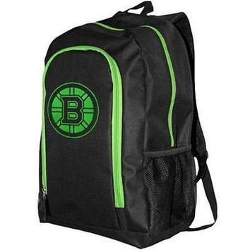 Brand New Fanatics 1082026 Boston Bruins Neon Tracker Backpack - Black