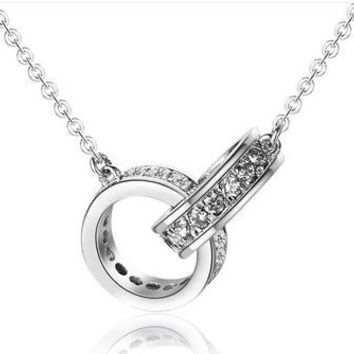 Ring in Ring 925 Sterling Silver Necklace