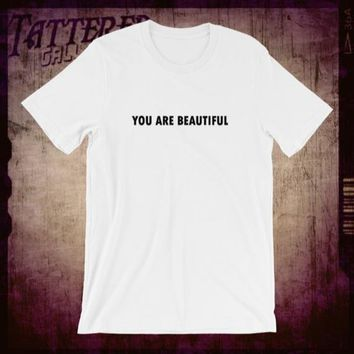 "Y.A.B. YOU ARE BEAUTIFUL-Social commentary shirt for everyone who ""gets it"".  #iydmdw #yab #lovetrumpshate"