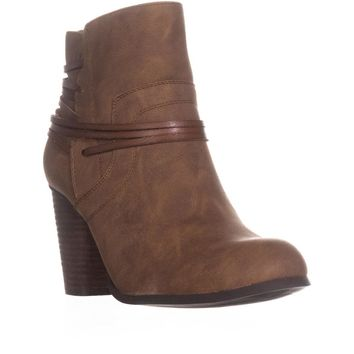 madden girl Denice Strappy Ankle Boots, Cognac Paris, 10 US