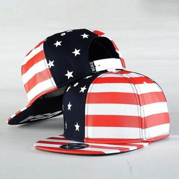 ONETOW Dad Hat Fashion USA Flag Hip Hop Cap Snapback Baseball Caps Street Dance Cap Unisex Adjustable Good Quality Casual Cap