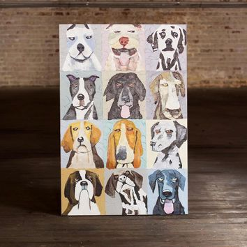 12 Emotional Dogs ~ Oil Painting