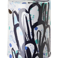 Black & Blue Alair Garden Stool