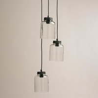 3-Jar Glass Hanging Pendant Lamp - World Market
