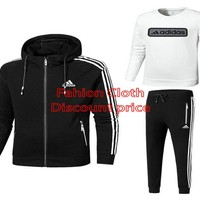 Adidas New Style Lovers set For Men L-4X 18029 Black White