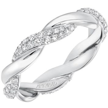 Artcarved Pave Diamond Twist Wedding Ring