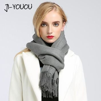 solid shawls and wraps scarf scarves women high fashion 2017 ponchos capes hijab warm cotton women's wool scarf winter shawl