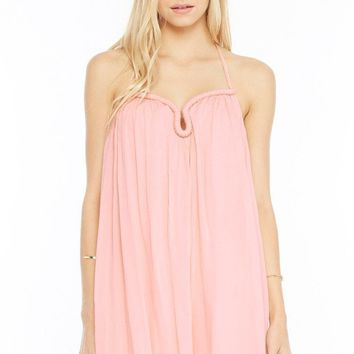 Boho Breeze Halter Dress