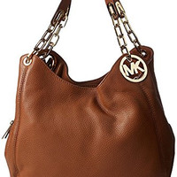 Michael Kors Fulton Tan Leather Large Shoulder Tote