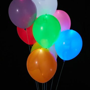 Colorful Light-Up LED Balloon 15-Pack Set | Urban Outfitters