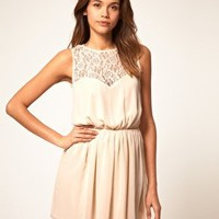 ASOS | ASOS Skater Dress With Lace Cross Back at ASOS
