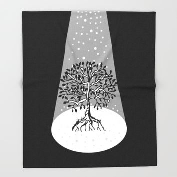 Light of Tree of Life Throw Blanket by ES Creative Designs