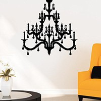 Wall Decal Chandelier Vinyl Sticker Wall Decoration Fancy Silhouette Decals Home Decor Art Bedroom Design Interior C515