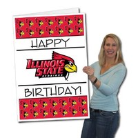 Illinois State University 2'x3' Giant Birthday Greeting Card Plus Yard Sign