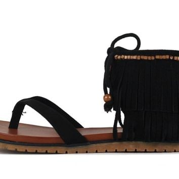 MIA for Women: Native Black Nova Suede Sandal