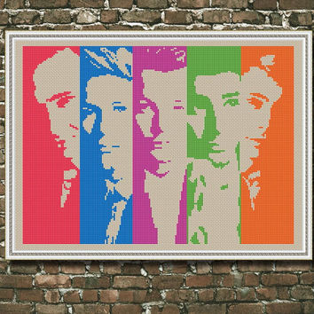 One Direction, Counted Cross stitch , Pattern PDF, Instant download. Cross stitch pattern . Includes easy beginner instructions.