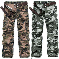 Military Men Design Camouflage Cargo Pants