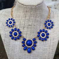 Bloom With Me Necklace {Royal}