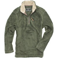 Pebble Pile Pullover 1/2 Zip in Vintage Olive by True Grit - FINAL SALE