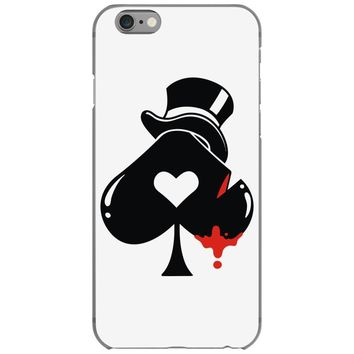 poker hat ace of spades iPhone 6/6s Case